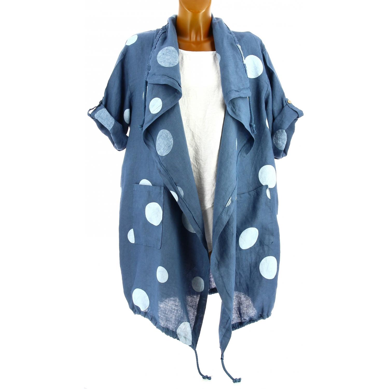 quality design 75659 d9b55 veste-femme-grande-taille-longue-lin-ete-bleu-jean-paula.jpg