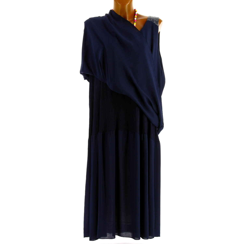 Marine Grande Bleu Taille Été Robe Bohème Zita Longue Chic wZ0knNP8OX