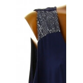 Robe longue grande taille été bohème chic bleu marine ZITA