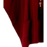 Poncho pull grande taille hiver bohème noir OSCAR