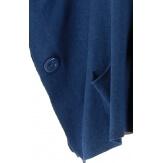 Poncho pull grande taille hiver bohème bleu jean OSCAR