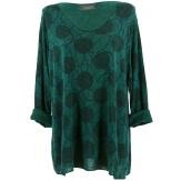 Tunique tee shirt grande taille bohème vert sapin RONDO