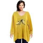 Tunique bohème grande taille t-shirt safran BASKETS