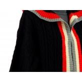 Gilet long capuche laine hiver noir DEAUVILLE