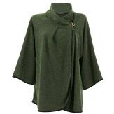 Gilet veste cape ample grande taille kaki ROSY