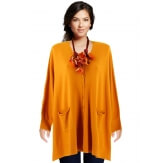 Gilet femme grande taille oversize moutarde CLAIRE