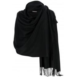 Etole châle écharpe cachemire laine noir BERTRAND