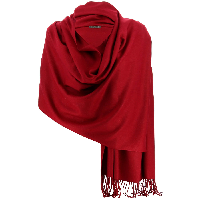 8deadf8de71 Etole châle écharpe cachemire laine bordeaux BERTRAND