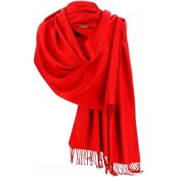 Etole châle écharpe cachemire laine rouge BERTRAND