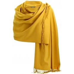 Etole châle écharpe cachemire laine moutarde BERTRAND