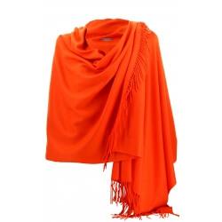 Etole châle écharpe cachemire laine orange BERTRAND