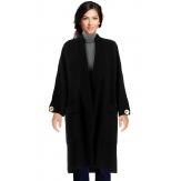 Manteau femme grande taille hiver angora noir LUIGI