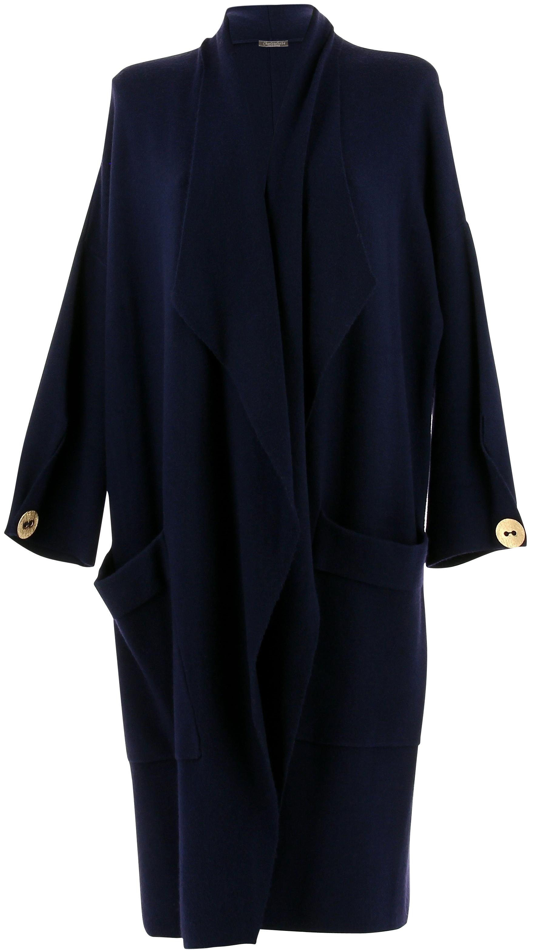 Manteau femme grande taille hiver bleu marine LUIGI