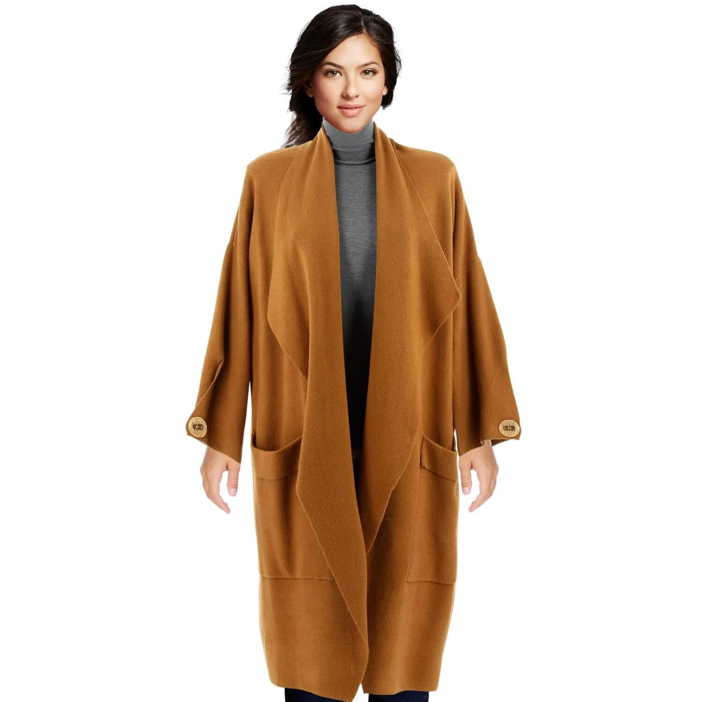 Manteau cape hiver camel