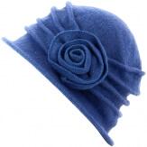 Bonnet chapeau cloche laine CATHERINE Bleu tendre Bonnet femme