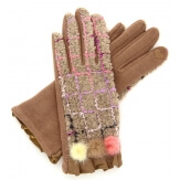 Gants femme hiver tactiles polaire chic taupe G17