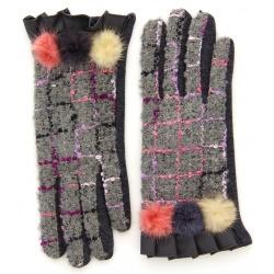 Gants femme hiver tactiles polaire chic gris G17