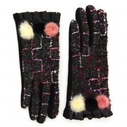 Gants femme hiver tactiles polaire chic G17 Noir-Gants femme-CHARLESELIE94