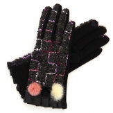 Gants femme hiver tactiles polaire chic noir G17