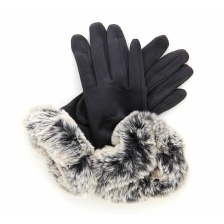 Gants femme hiver tactiles polaire fourrure G18 Gris-Gants femme-CHARLESELIE94