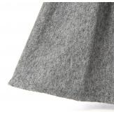 Jupe hiver patineuse laine évasée gris GALEA