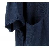 Pull long femme grande taille laine bohème bleu marine MANUREVA