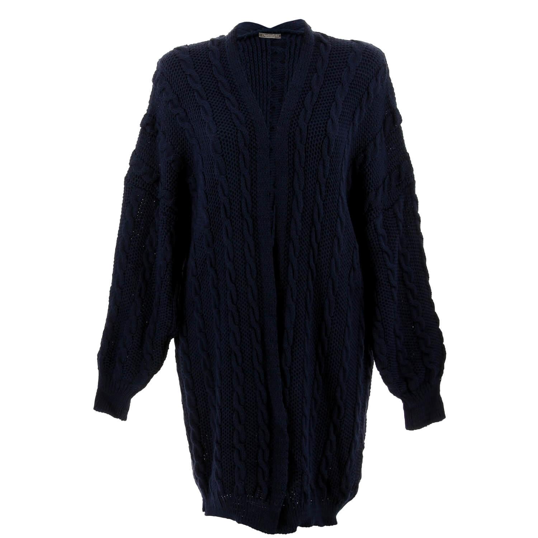 16d84171f8a6 Gilet long femme grande taille hiver bleu marine FUTURA