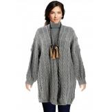 Gilet long femme grande taille hiver gris FUTURA