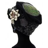 Bonnet béret femme laine hiver PIERROT Noir-Bonnet femme-CHARLESELIE94