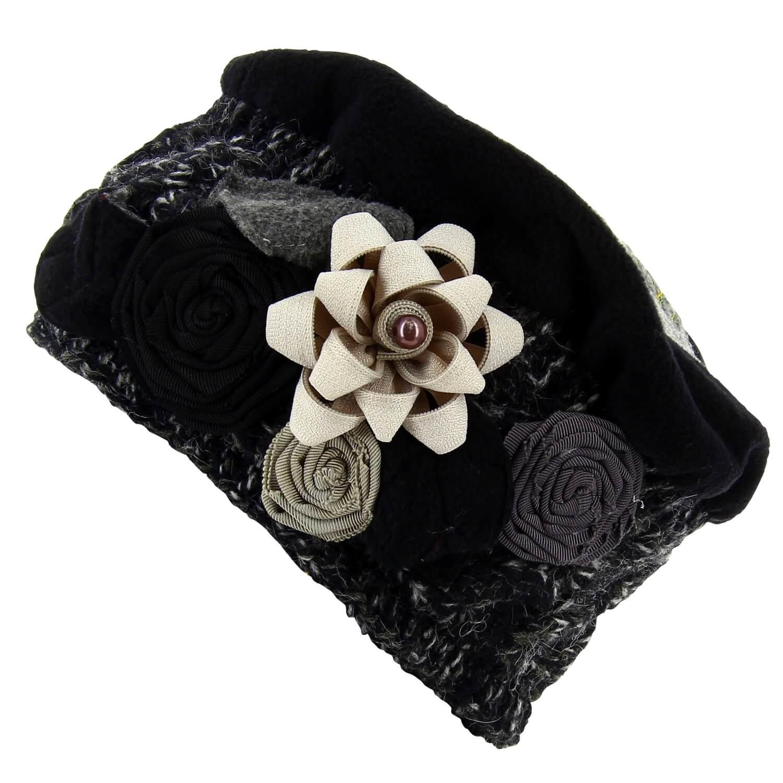 bonnet b ret chapeau femme laine hiver noir pierrot. Black Bedroom Furniture Sets. Home Design Ideas