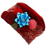Bonnet béret chapeau femme laine hiver bordeaux PIERROT