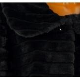 Manteau cape veste fourrure grande taille chic noir ESTEBAN