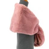 Cape boléro fausse fourrure hiver rose DOUCEUR