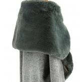 Cape boléro fausse fourrure hiver gris DOUCEUR