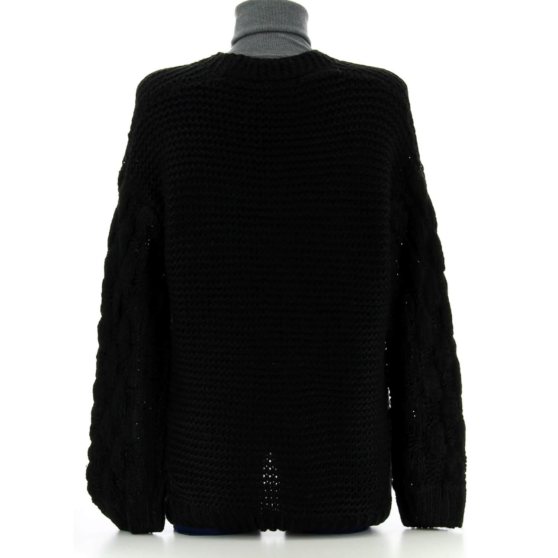 dernière vente vraie qualité couleurs et frappant Gilet femme grosse maille hiver laine noir DAVE