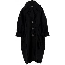 Manteau femme grande taille hiver bouclette noir CLAUDIO
