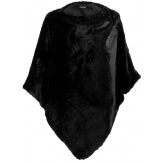 Poncho cape fausse fourrure hiver noir CAMPUS