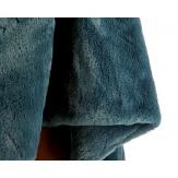 Poncho cape fausse fourrure hiver gris CAMPUS