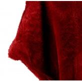 Poncho cape fausse fourrure hiver bordeaux CAMPUS