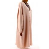 Gilet femme grande taille long oversize rose GASPARD