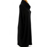 Pull femme long grande taille oversize noir JENNY