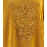Tunique grande taille t-shirt bohème moutarde CALAVERA
