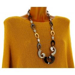 Sautoir collier long couture chic résine C32