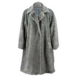 Manteau fausse fourrure femme hiver gris MANGA