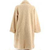 Manteau fausse fourrure femme hiver beige MANGA
