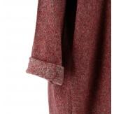Pull long grande taille laine bohème bordeaux GALAXIE