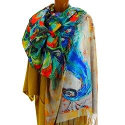Écharpe étole femme cachemire laine MONET