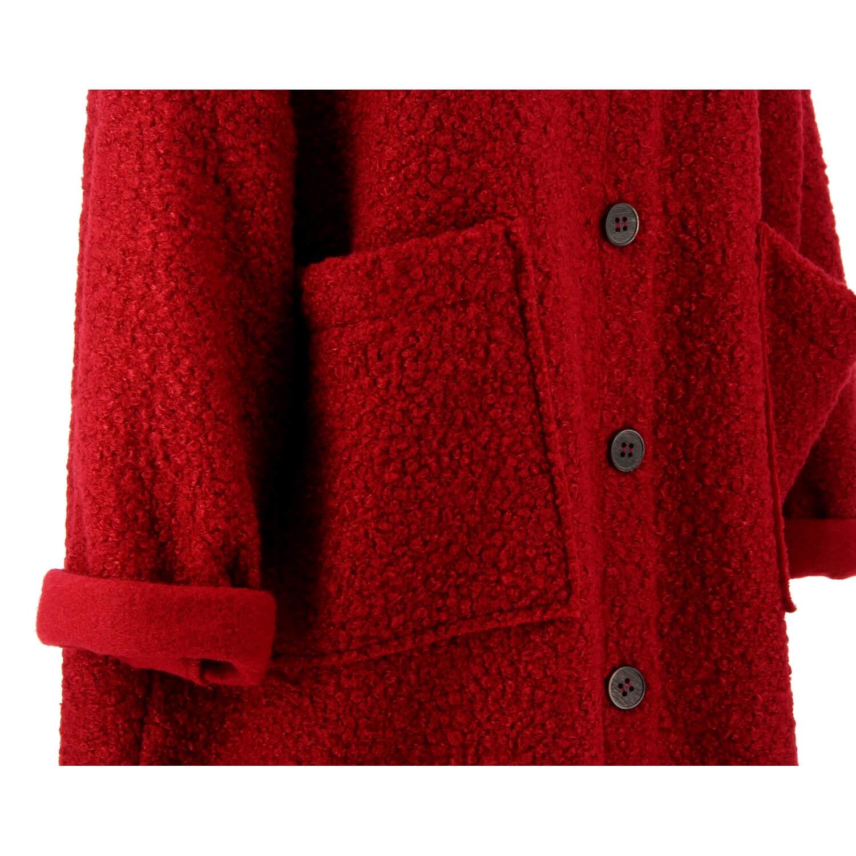 Bouclette Taille Femme Grande Bordeaux Rouge Sonia Manteau qOFtEx 163e92368c77