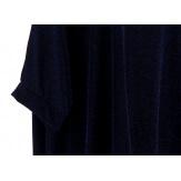 Tunique grande taille ample chic soirée bleu DANA