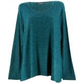 Pull tunique laine angora bohème  bleu FRIDA